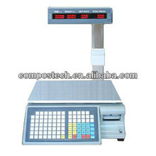New Product Barcode Printer Electronic  Scale With Barcode Printer With Label And Receipt Printing