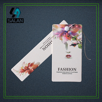 Wholesale Customize Letters Logo In Font Hang Tag Logo Garment Label With Free String Customized Hang