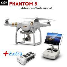 Lo nuevo Dji phantom 3 Avanzado/Profesional Drone con Batería Extra Full HD wifi y cámara Sin Escobillas Gimble, GPS sistema,