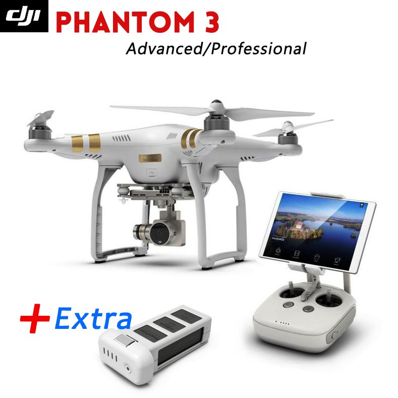 Newest Dji phantom 3 Advanced /Professional Drone with Extra Battery Full HD wifi camera & Brushless Gimble,GPS system ,