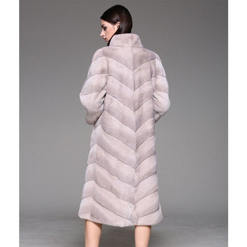 Caots Chaud Fourrure Fierté Épais Cuir Pink Jade Gamme D'hiver Pelt Pleine Réel Femmes Longue Haut Manteau Naturel Vison 2017 Véritable De ZdHwpqY