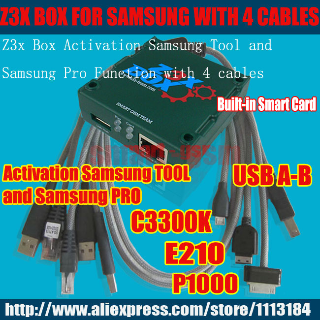 2016 News 100% Original Z3X PRO Box Z3X BOX activated Sam