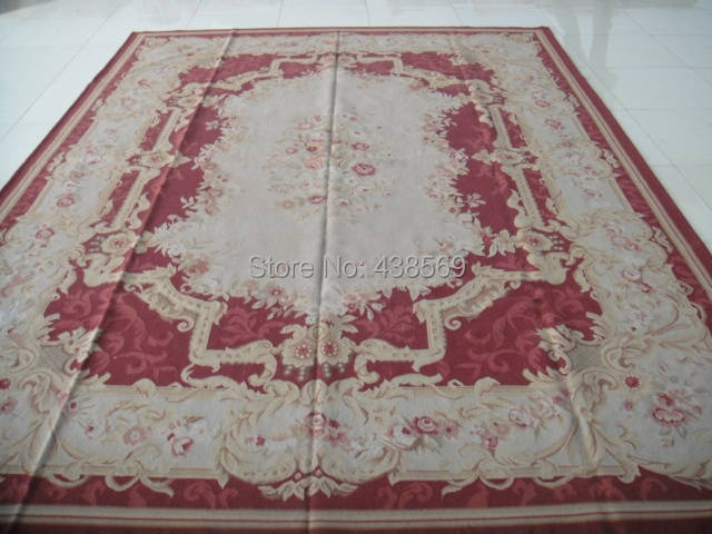 US $1990.0 |Spedizione gratuita 9\'x12 \'Aubusson tappeti di lana tappeti  tappeti per soggiorno tappeti Shabby Chic di Alta Qualità-in Tappeto da  Casa e ...