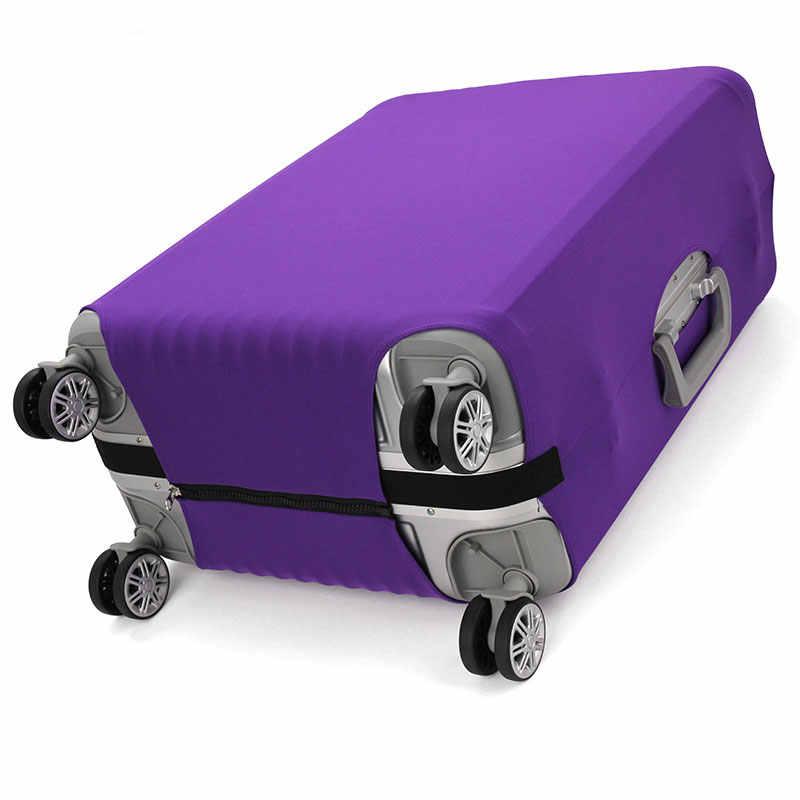 OKOKC утолщаются носимые чистый цвет путешествия защитный чехол на чемодан, стрейч, сделано для S/M/L/XL, применяется к 18-32 дюймовым чехлам
