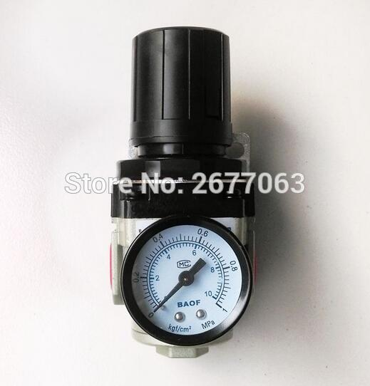 Air Control Compressor Pressure Gauge Relief Regulating Regulator Valve AR3000-03 3/8'' Port Size 1pc air compressor pressure regulator valve air control pressure gauge relief regulator 75x40x40mm