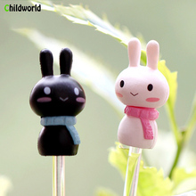 DIY MINI Rabbit Spring Decoration Toy Doll Couple Bunny Micro Landscape Accessories
