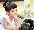 popular Baby girl Jewelry Headdress child  Princess rhinestone tiaras Crown Hair comb/headband