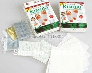 Image 2 - Opakowanie detaliczne 100 szt. 4Y Cleansing Detox Foot Kinoki Pads oczyść pobudź swoje ciało (1 partia = 5 pudełek = 100 sztuk = 50 sztuk łatek + 50 sztuk kleju)