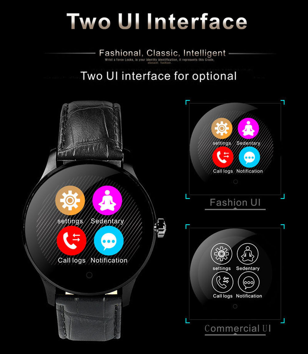 Makibes K88H Bluetooth Smart Watch Classic Health Metal Smartwatch Heart Rate Monitor for Android ISO Phone Remote Camera Clock 18