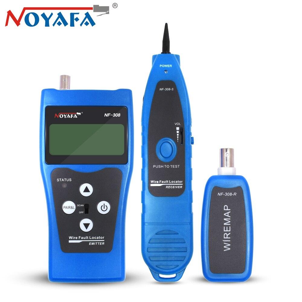 Noyafa NF-308 NF 308 moniteur réseau téléphone câble testeur RJ45 RJ11 LCD BNC USB Toner fil Tracker localisateur ligne Finder outil