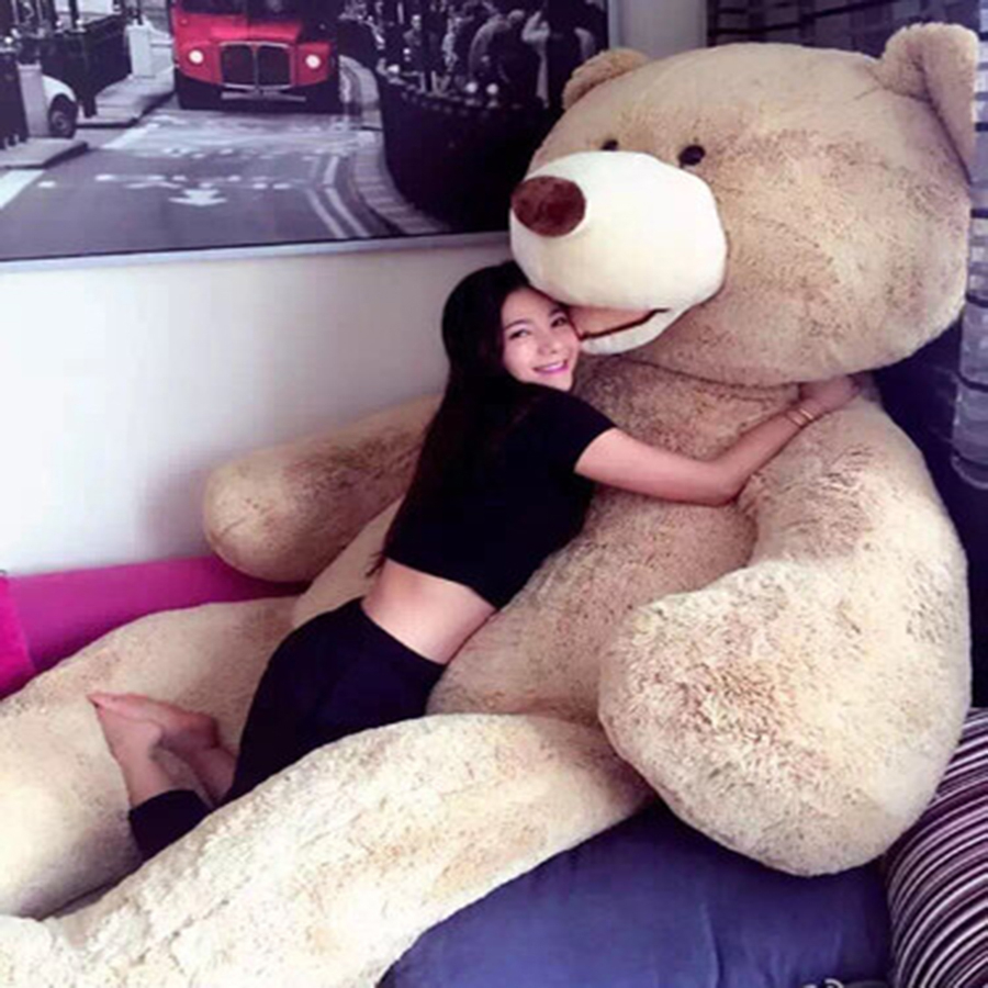 Giant Teddy Bear Plush Soft Toy Bear Big Pluche Stuffe Speelgoed Girls Gifts Large Stuffed Animal Plush Giant Bear Bed 70C0463 fancytrader big giant plush bear 160cm soft cotton stuffed teddy bears toys best gifts for children