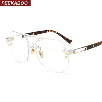 קוקו אופנה ברור שקוף משקפיים מסגרות לנשים גברים 2019 זכר מסגרות ללא שפה סדיר