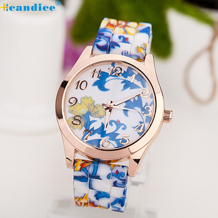 98d4b273990e Detail Feedback Questions about splendid silicone floral band watches women  rubber strap watch reloj pulsera mujer quartz analog sports wristwatch  montre ...