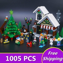 Lepin 36002 Building Blocks Creative Winter Series Christmas 10249 Winter Toy Shop Assembled Pinch Juvenile Gift for Children