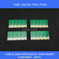 Free Shipping 5 Sets Of T7011 T7014 Auto Reset Chip For Refillable Ink Cartridges And Ciss