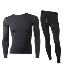 Good Quality Men's Thermal Fleece Underwear Set Compression Tight Top&Bottom Hot-Dry Technology Surface Warm Lined Long Johns