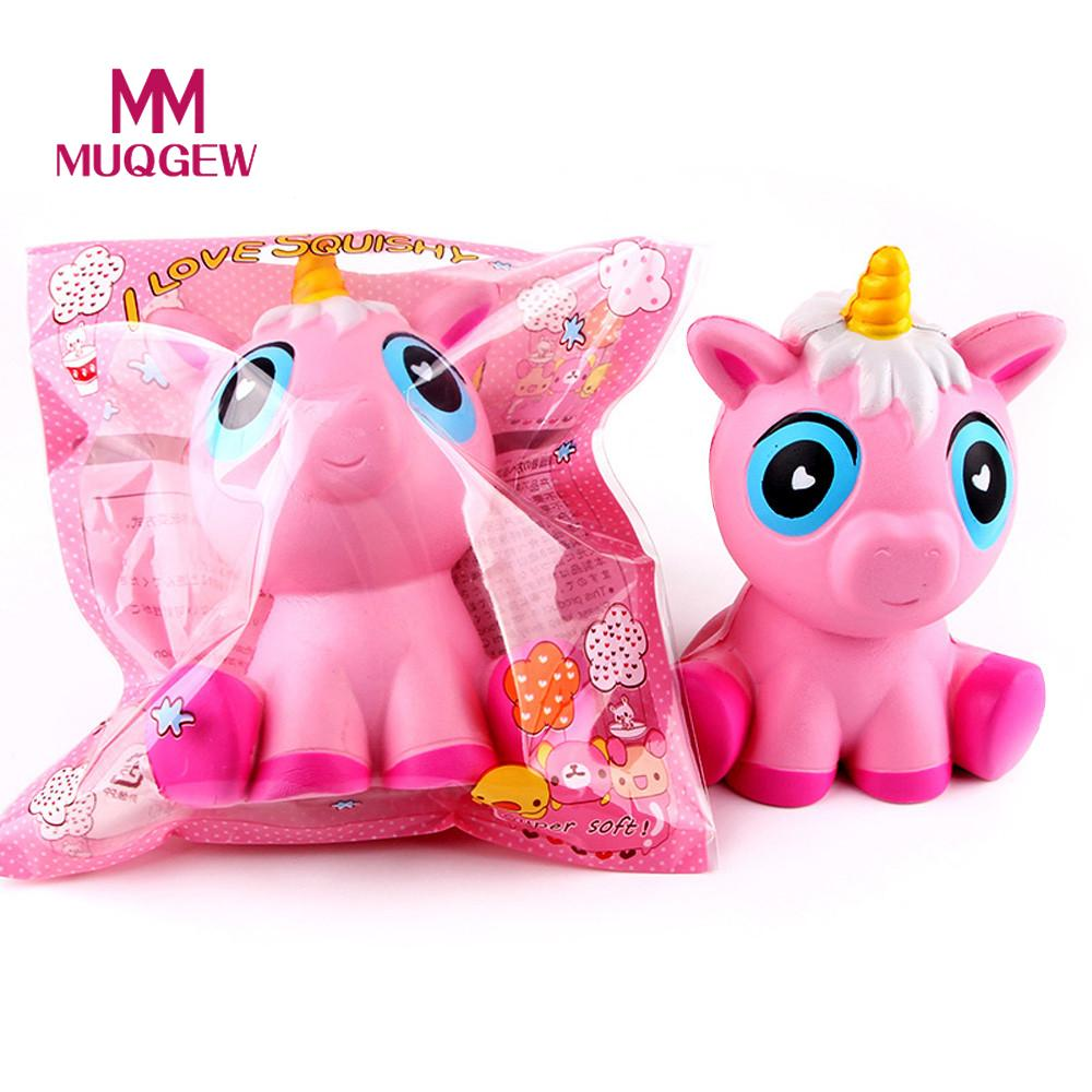 MUQGEW Kawaii Squishy Slow Rising 12CM Unicorn Toys Relieve Stress Anxiety Decompression Squeeze for Children Adult Cabinet