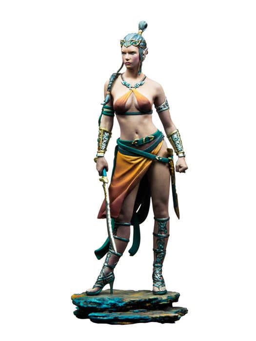 Unassambled  1/24 75mm  Princess of Light woman soldier 75mm   Figure  Resin kit miniature model Unpainted