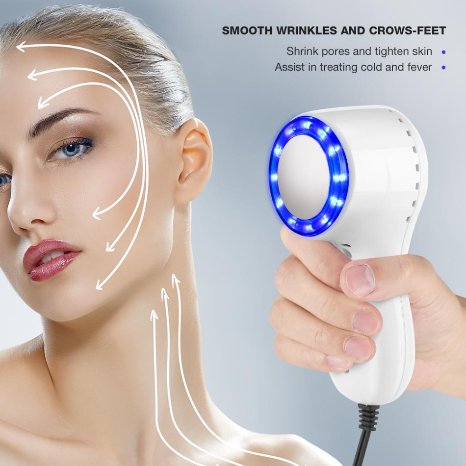 Skin Care Blue-ray Beauty Machine Cold Hammer Cryotherapy Ice Healing Facial Skin Lifting Tightening Shrink Pores Anti-aging Face Massage Face Skin Care Tools
