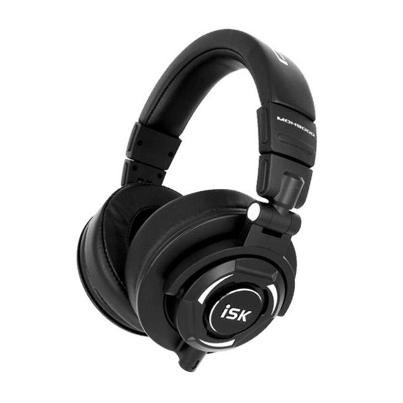 Moniteur professionnel Studio casque ISK MDH9000 dynamique 1800 mW puissant DJ sur l'oreille suppression du bruit casque HiFi auriculaires