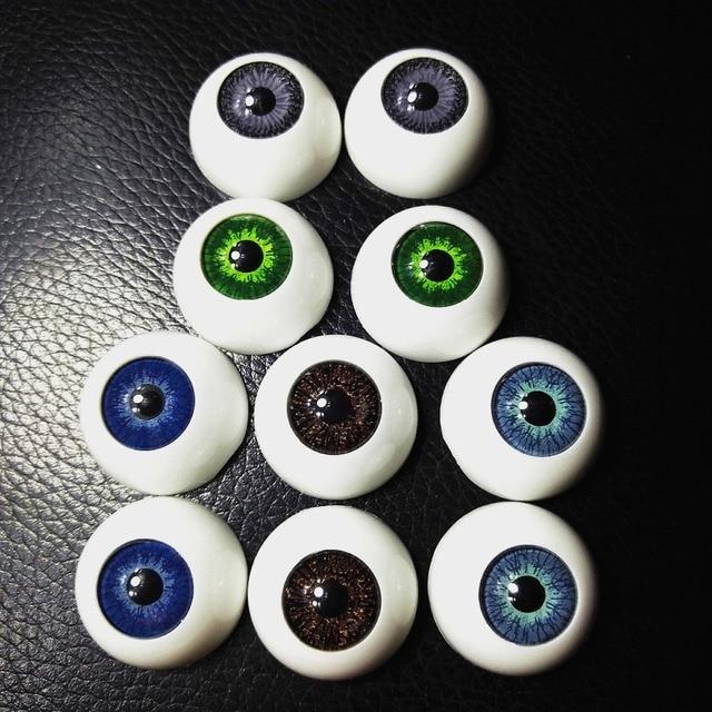 4 шт. (2 пары) BJD 22 мм куклы с пластиковыми глазами аксессуары кукольные Reborn смесь цветов полукруглый глаза игрушки аксессуары DIY