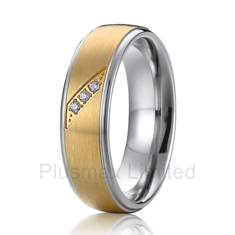 anel feminino A wedding rings as unique as she is beautiful titanium wedding band anniverary rings anel feminino ouro titanium soul mate three rings in one wedding band engagement rings for men and women