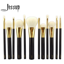 NEW Jessup 12pcs Professional Makeup Set Pro Kits Brushes makeup cosmetics brush Tool foundation eyeshadow powder Lip wool