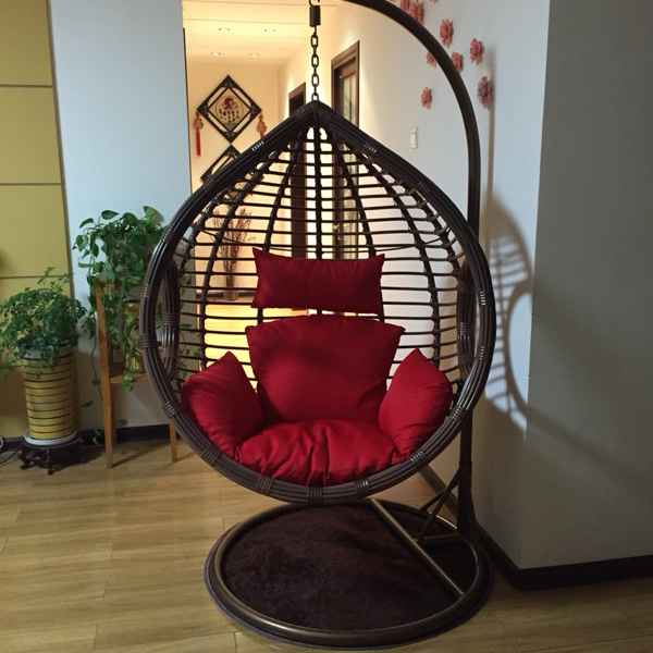 0404tb021 Rough Rattan Livingroom Bedroom Balcony Hanging Chair Swing Rocking Leisure