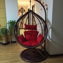 0404TB021 Rough rattan livingroom bedroom balcony hanging chair swing rocking leisure chair(China)