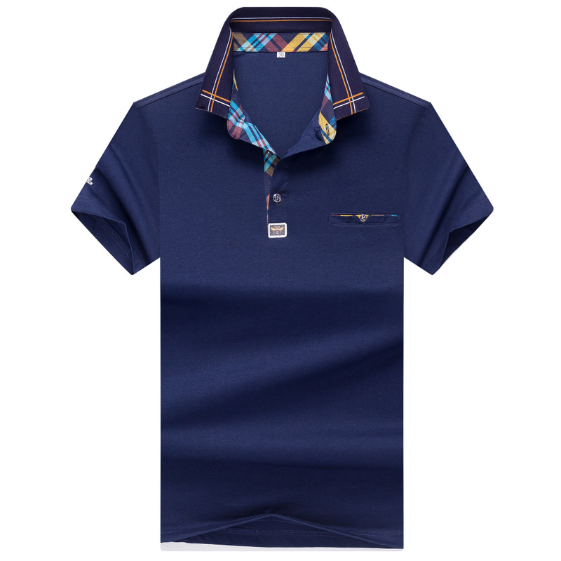 Qualite Tops & Hommes   Polo   chemises Daffaires hommes marques   Polo   Chemises broderie Turn-down col mens   polo   shirt