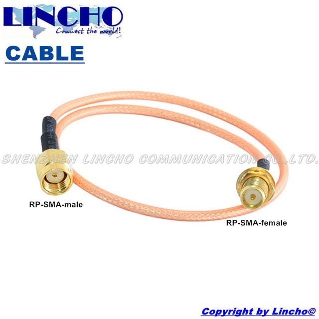 50 cm 2.4 GHz wifi antena RG303 baja pérdida jumper cable rp sma macho a rp sma conector hembra