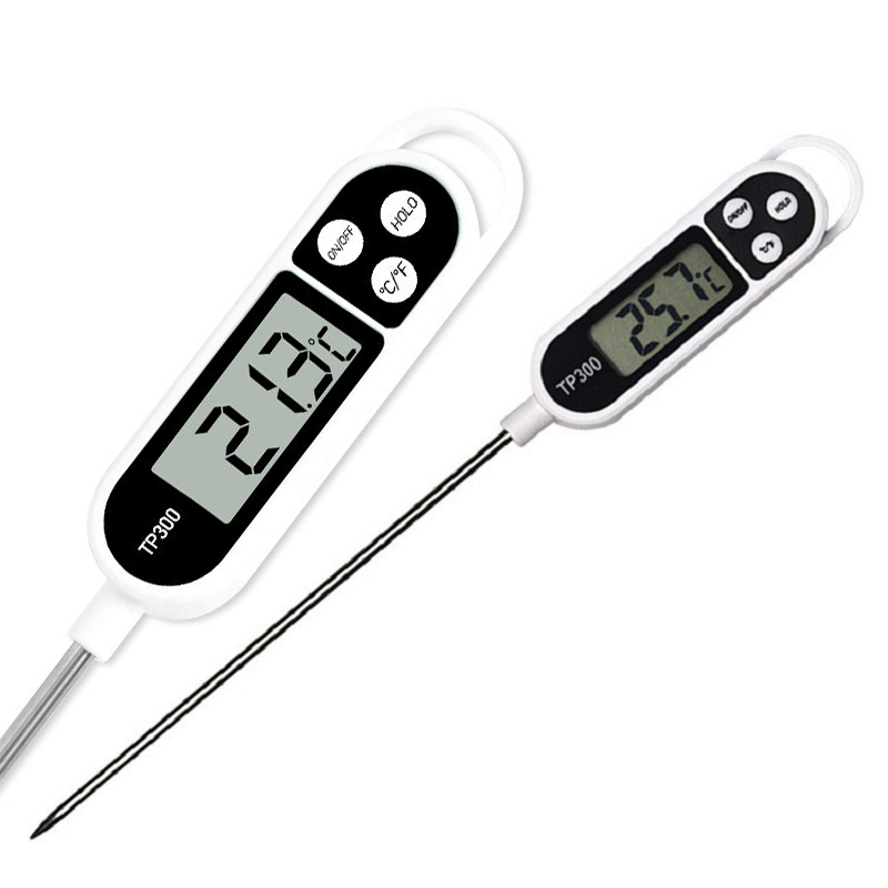 1Pcs Digital Food Thermometer Long Probe Electronic Cooking Thermometer For Cake Soup Fry BBQ Meat For Kitchen With Battery(China)