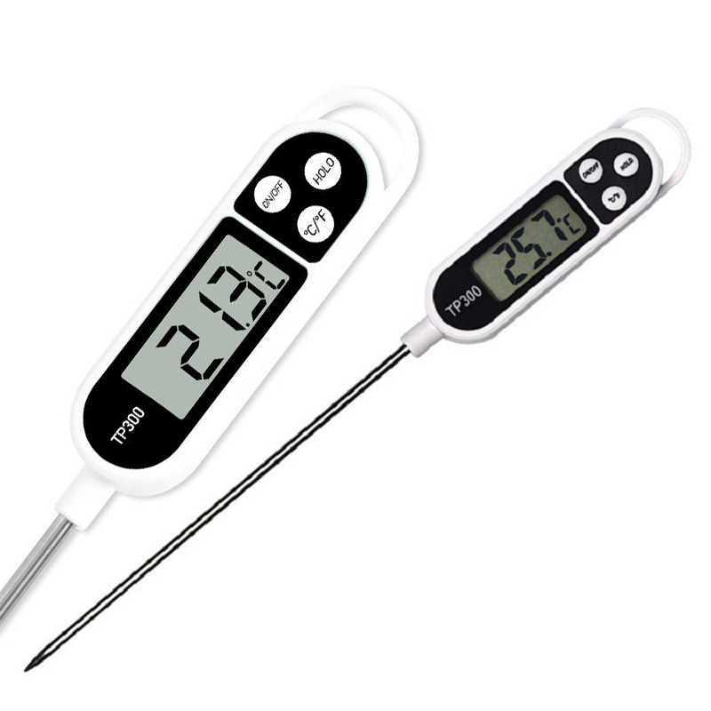 1Pcs Digital Food Thermometer Long Probe Electronic Cooking Thermometer For Cake Soup Fry BBQ Meat For Kitchen With Battery