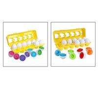 Набор яиц для массажа в красочной форме, дошкольные игрушки Монтессори для малышей, Обучающие навыки распознавания цветов