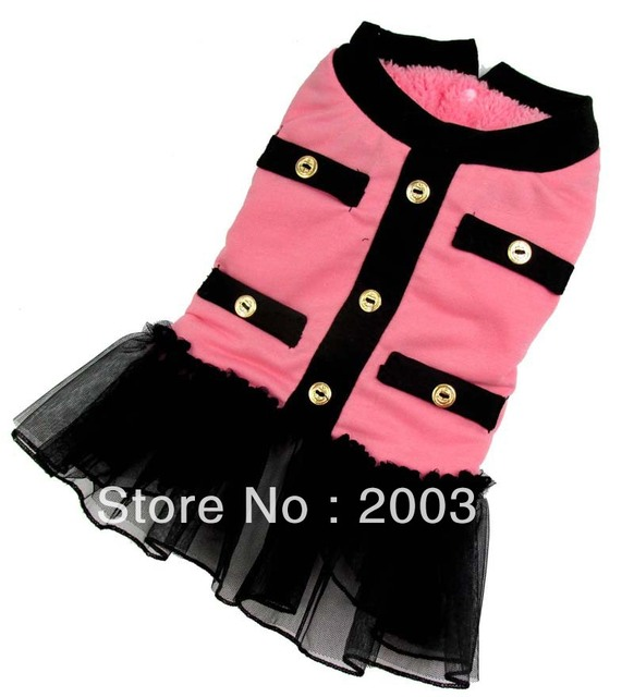 Wholesale New cute Pink princess Warm Dogs winter Coat  Free shipping dogs winter dress coat for dog