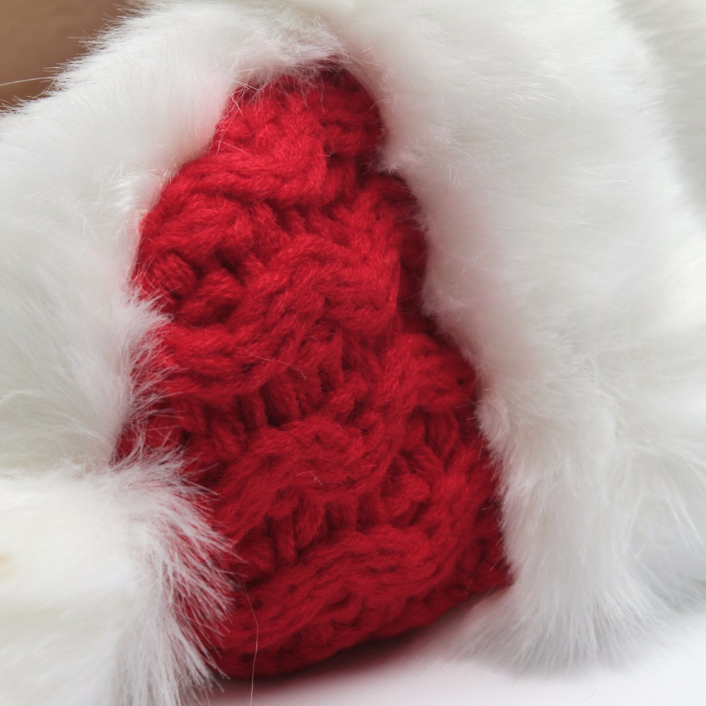 2016 Christmas Hats For Adults Women Winter Twisted Knit Beanies With Pompom Imitation Rabbit Hair Thick Warm Snow Earflap Cap  (4)