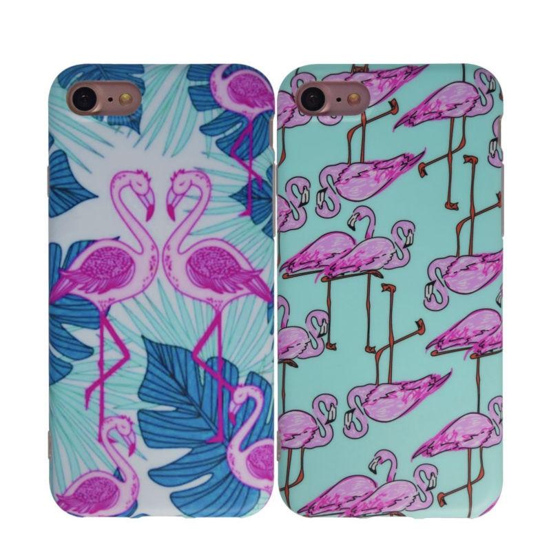 Sevimli Flamingo Girly Telefon Çanta Çantası, iPhone 6 6S 7 - Cib telefonu aksesuarları və hissələri - Fotoqrafiya 6
