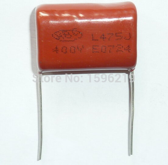 50pcs CBB Capacitor 475 400V 475J 4.7uF 4700nF P27 CL21 Metallized Polypropylene Film Capacitor