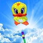 free shipping soft duck kite nylon ripstop outdoor toys big flying kite tails octopus kite string parachute kites reel bag