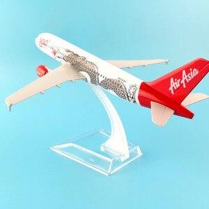 Image 4 - Модель самолета JASON TUTU 16 см, модель самолета Air Asia, аэробус 320, модель самолета 1:400, Литые металлические самолеты, самолеты, игрушка в подарок