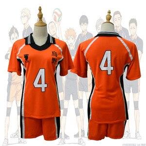 Image 5 - Haikyu!! Haikyuu קוספליי תלבושות Karasuno Koukou תיכון מועדון כדורעף Hinata Shoyo חולצת ספורט גופיות