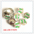 Trend DIY button AKA shield snaps handmaking sorority fraternity charm alloy 18mm glass beads accept custom 10pcs/lot,ONC003