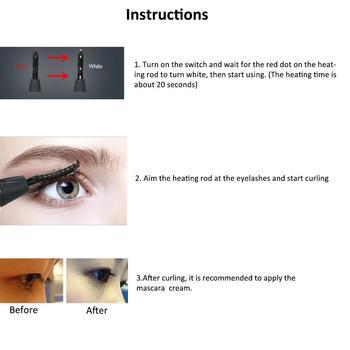 Electric Heated Eyelash Curler USB Electric Heated Makeup Eye Lashes Heated Eyelash Curler Long Lasting Beauty Instrume 6