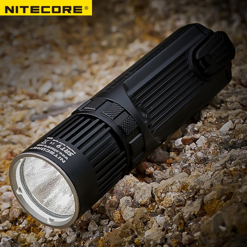 NITECORE SRT9 2150 Lumen Red/Blue Warning Light CREE XHP50 LED for Gear Hunting Law Enforcement Military Flashlight Lantern 2017 nitecore five colours primary infrared light ci6 hunting kit gear hunting law enforcement militar flashlight lantern boxset