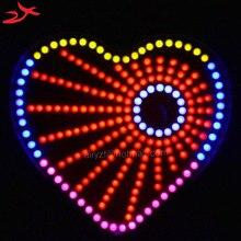 Для подарок на день рождения красный форме сердца огни cubeed, светодиодные электронные diy kit