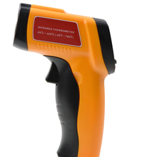 -50~420 Celsius(-58F-788F) Non-Contact LCD Digital IR Infrared Thermometer Emissivity:0.1to 1.00 Adjust Laser Temperature Tester