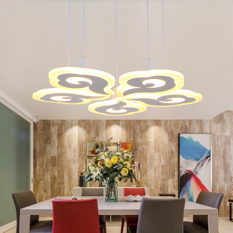 Modern Simple restaurant Ceiling Chandelier Lighting Counter Office Meeting Room Creative Personality Chandeliers LED Lights modern crystal chandelier hanging lighting birdcage chandeliers light for living room bedroom dining room restaurant decoration
