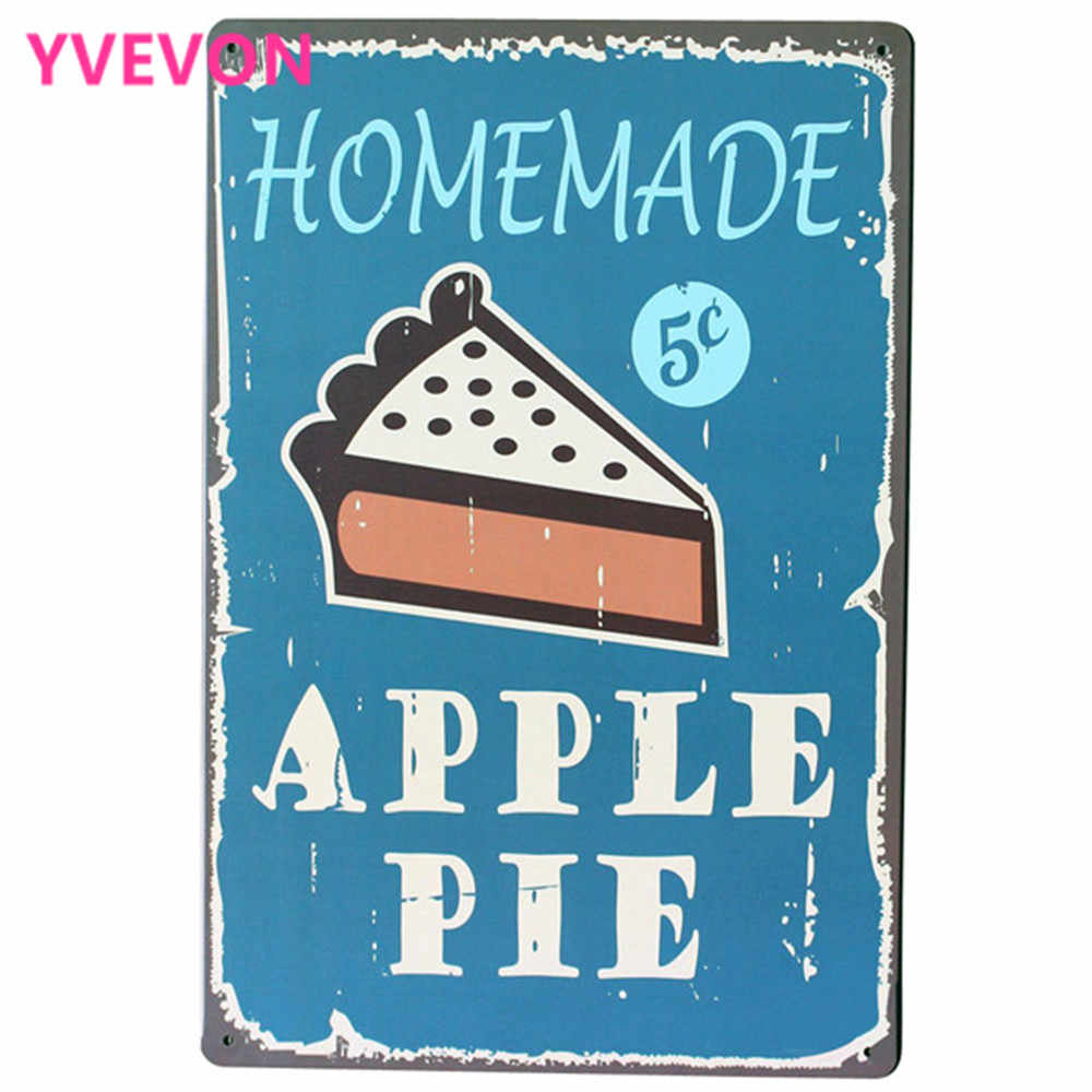 HOMEMADE APPLE PIE for Metal Tin Sign Wall Decor Antique Plague Dinning Restaurant Pub Party Wall Decor 20x30cm