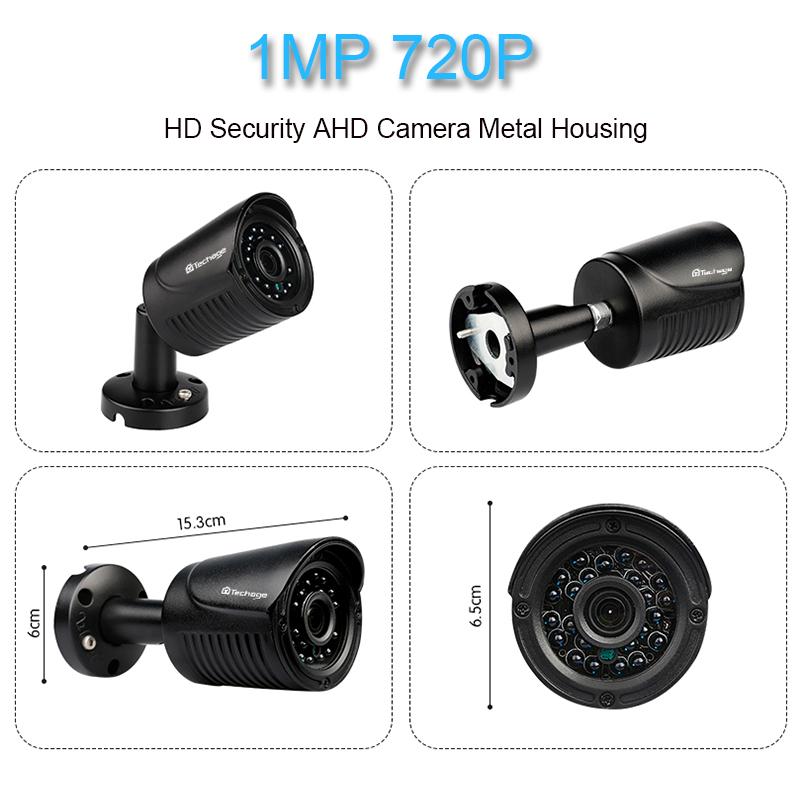 Techage 8CH 1080P HDMI Ausgang DVR Kit AHD CCTV System 4PCS 720P 1,0 MP Kamera Outdoor AHD-M video Security Surveillance System
