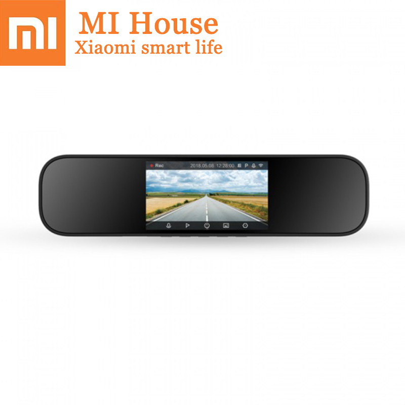 Xiaomi Mijia Rétroviseur Conduite Enregistreur Hd de Vision Nocturne 1080 p Voiture L'image D'inversion Parking Surveillance Vocale Intelligente Con